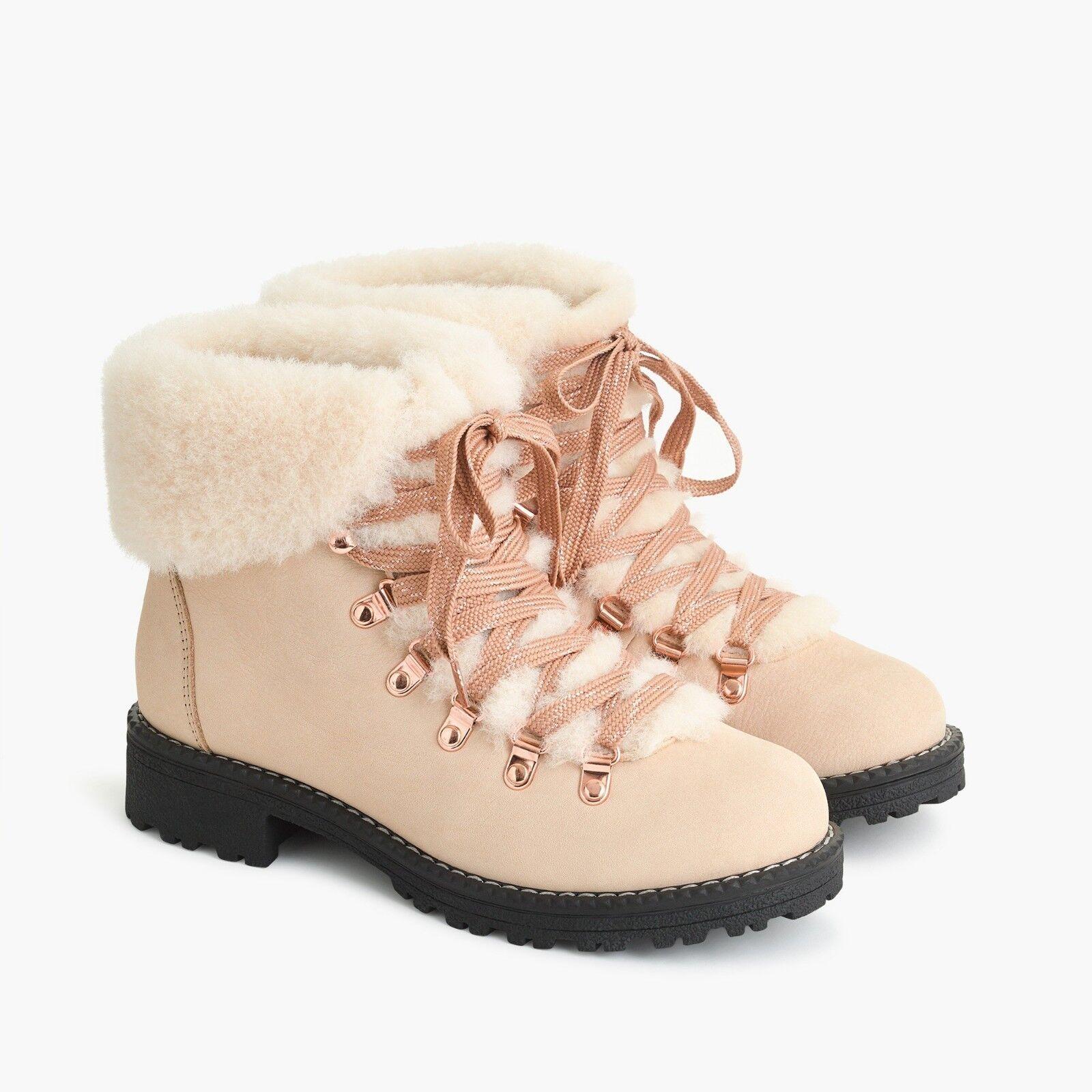 NIB J.CREW  178 Nordic Boots DUNE DUNE DUNE F8444 SZ 9M 9 nubuck leather winter snow e0262e