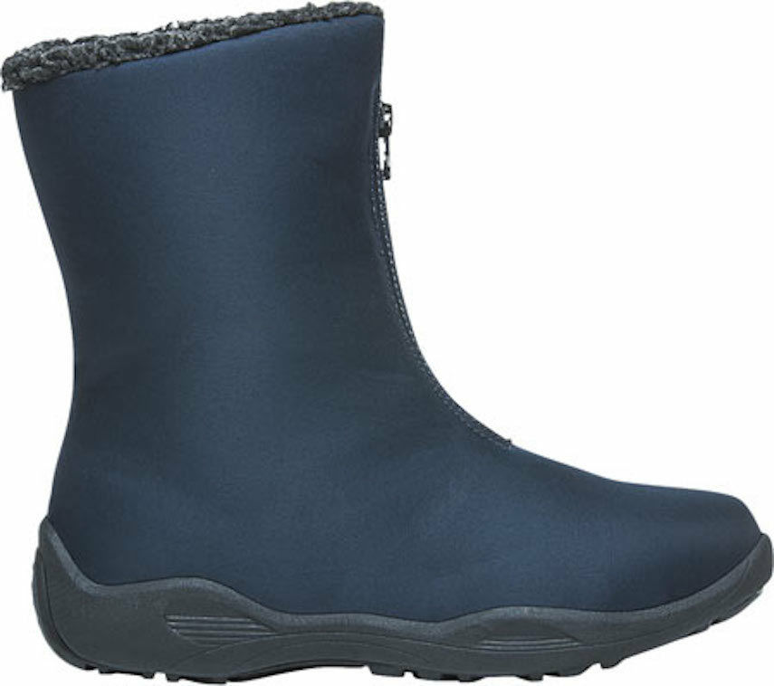 Womens Propet Madison Mid Zip Winter Boots - Navy Nylon Size 7.5