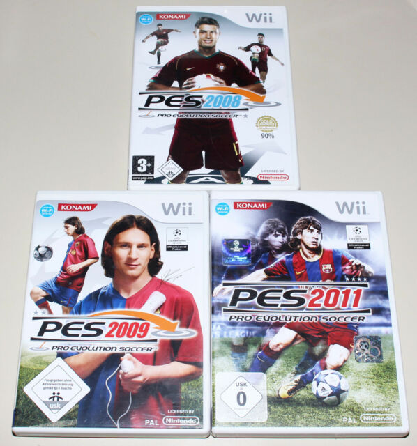 3 nintendo wii jeux collection PRO EVOLUTION SOCCER PES 2008 2009 2011 Football
