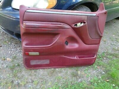 92-96 FORD F 150 f150 F-250 BRONCO DRIVER DOOR PANEL red ...