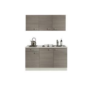 Details zu Singleküche mit Spüle Miniküche Kochplatte Mini Küchenzeile  Küche 10 cm pinie
