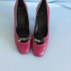 780e0b82f3 Image is loading CHRISTIAN-DIOR-VINTAGE-PINK-SHOES-SIZE-7