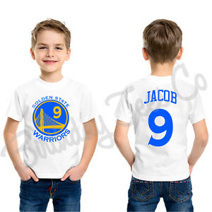 reputable site fe7a4 50d68 Details about Golden State Warriors Shirt Stephen Curry Jersey Custom Name  & Age Personalized