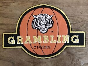 Vintage-Grambling-State-Tigers-Basketball-HUGE-Patch-Jacket-HBCU-NCAA-College