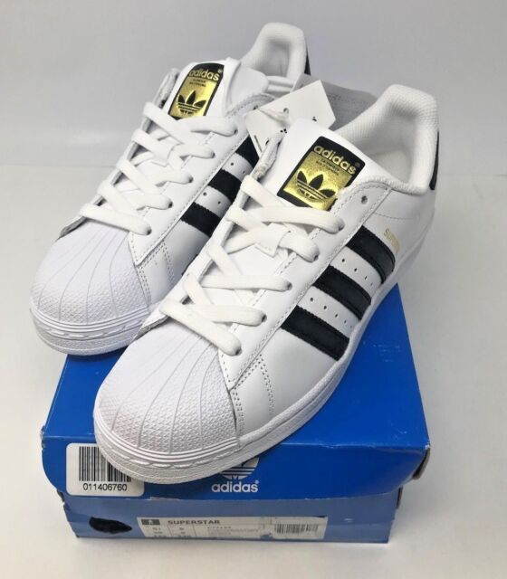 Men Adidas Originals Superstar Leather Trainers US 5 12 New With Box Free Shipp