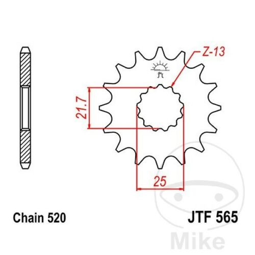JT Front Sprocket 16T  for Kawasaki KLE