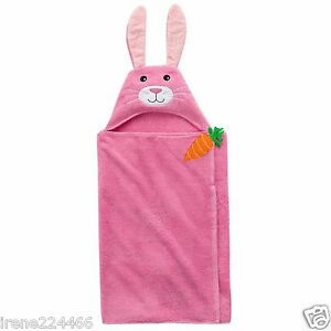 Blossoms Amp Blooms Pink Embroidered Bunny Rabbit Hooded