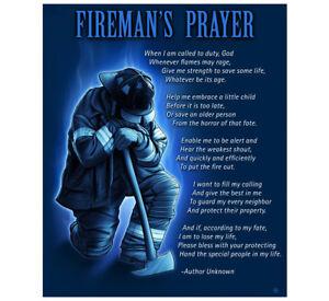 """Fleece Throw Blanket 50"""" x 60"""" FIREMAN'S PRAYER FIREFIGHTER FIREMEN FIRE DEPT"""