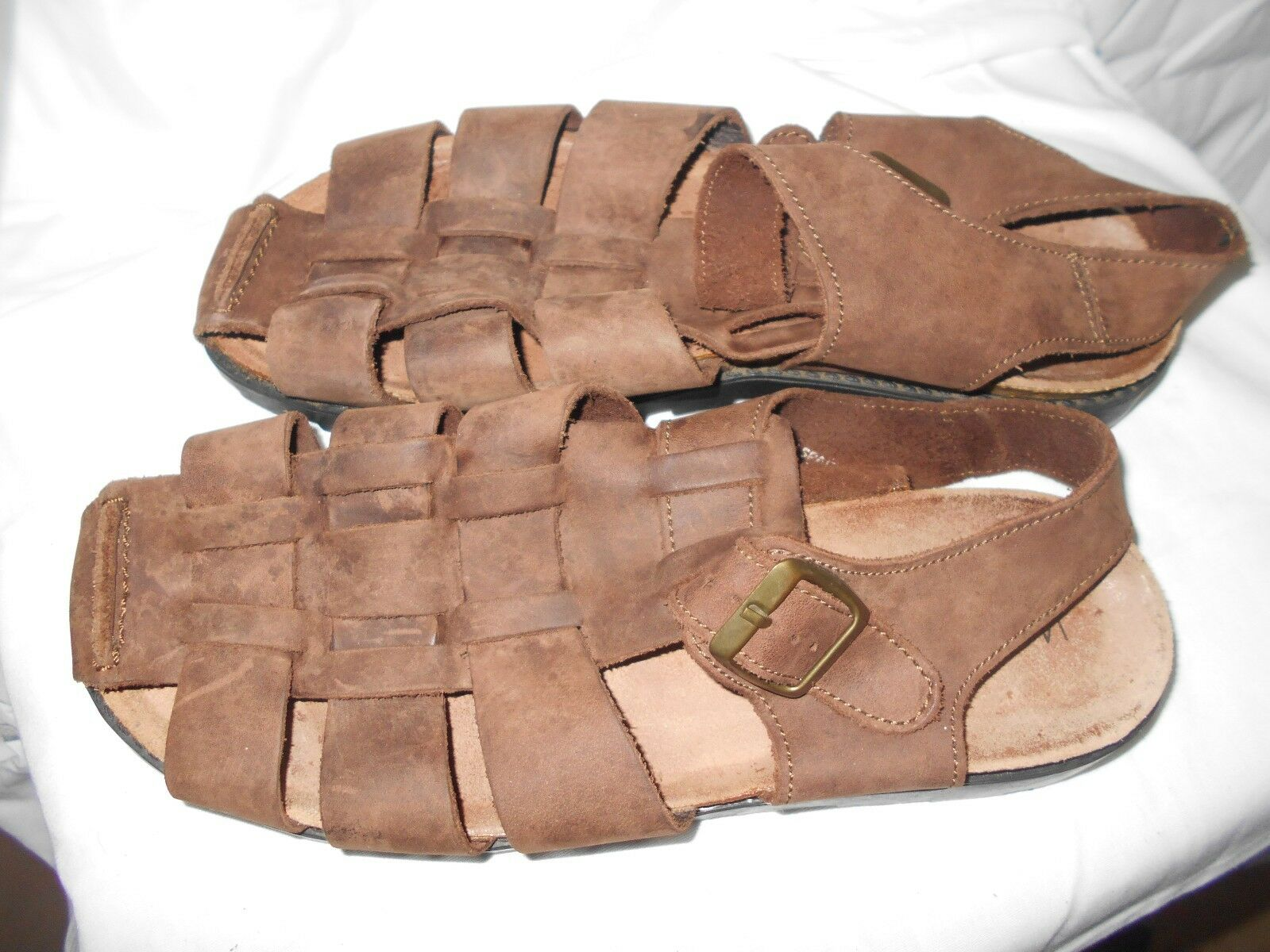 Woodstock Leather 9 Sandals Charo Brown sz 9 Leather Womens 96fffa