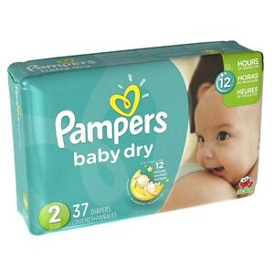 Pampers Baby Dry Diapers, Size 2 37 ea