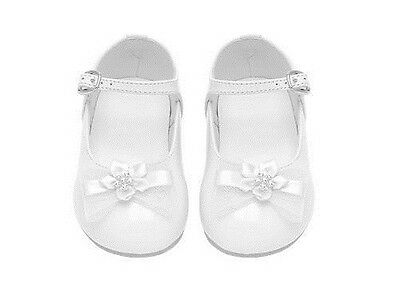 Toddler/Infant BABY GIRL DRESS FORMAL SHOES Pageant Wedding Birthday Party WHITE