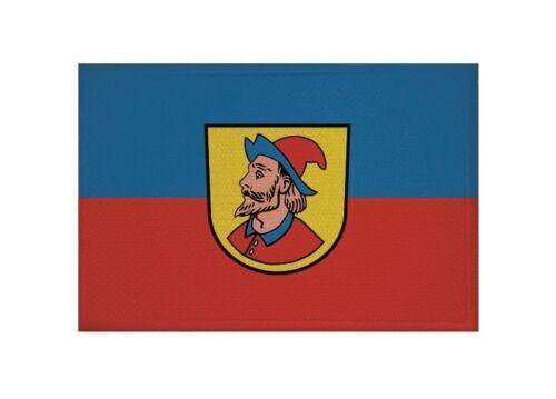Aufnäher Heidenheim an der Brenz Fahne Flagge Aufbügler Patch 9 x 6 cm