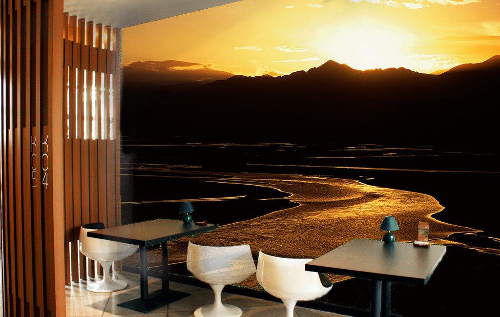 3D Sunset Beach Hill 6 Wall Paper Wall Print Decal Wall Deco Indoor Mural Summer
