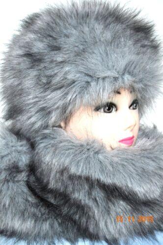 NEW Fur Hat /& Shawl Scarf Fluffy Stylish Festive Rinbow Dash Fur Hats Colours