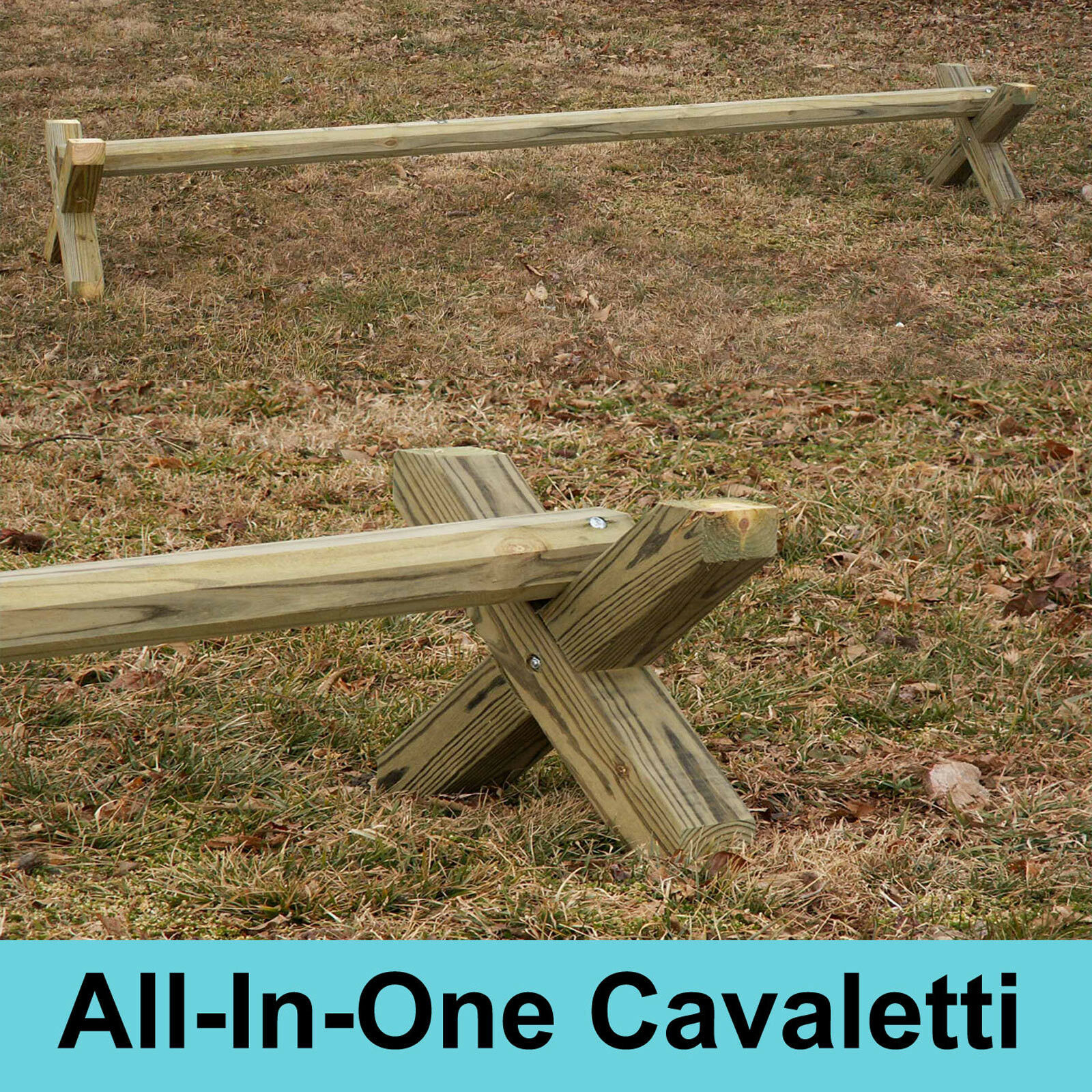 All-In-One Wood Cavaletti Single  Horse Jumps - A Must Have Horse Training Aid  sales online