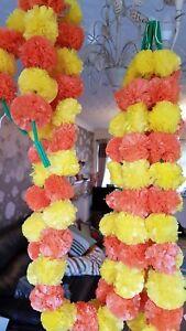 Artificielle Marigold Guirlandes 5 Ft (environ 1.52 M) Fusion Mehndi Mariage Décoration Mixte 1 Pc-afficher Le Titre D'origine