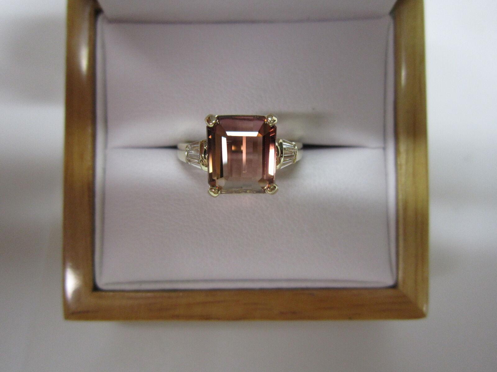 fbea758f1ba9f1 GORGEOUS ESTATE 14 KT 3.65 CTW. BI COLOR TOURMALINE & DIAMOND RING gold  qvooyz2923-Gemstone