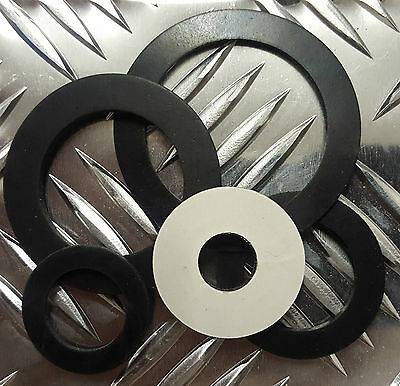 5 x Bespoke Solid Neoprene Adhesive Backed Rubber Washer 1mm thk upto 60mm dia