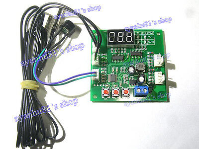 DC 12 24V 48V 2-Way 4-Wire Computer PWM Temperature Control Fan Speed Controller