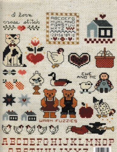 Country Caboodle Mini Series #1 Charted Cross StitchLeisure Arts 371 Cow Pig