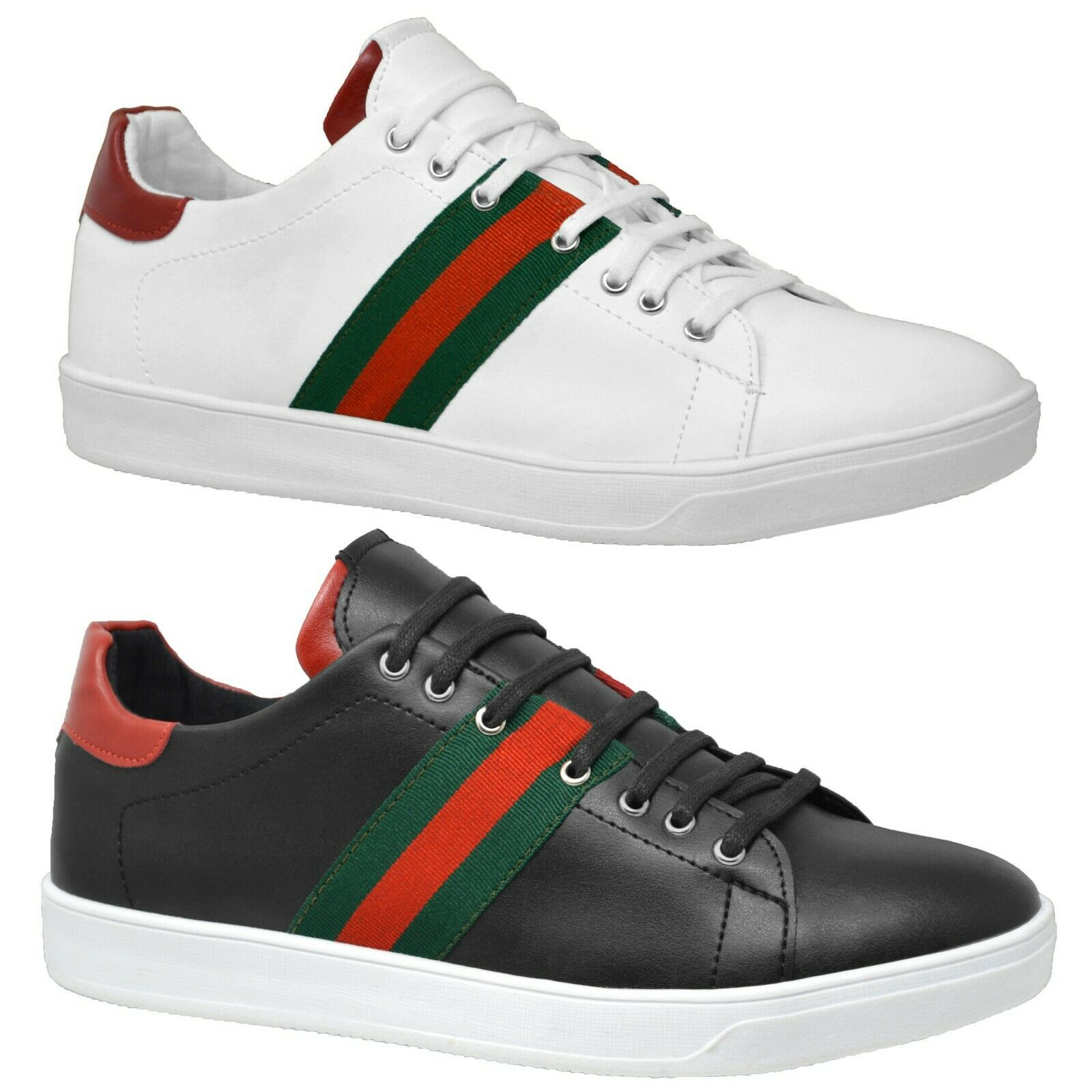 Mens Casual Black Lace Up Trainers