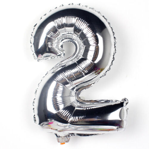 """32/"""" Gold Silver Numbers Balloons Aluminum Foil Helium Balloon Wedding Party"""