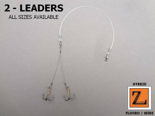 FLUOROCARBON // WIRE HYBRID ICE FISHING QUICK STRIKE RIGS Z LEADERS #625 2