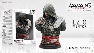 EZIO MENTOR BUST NEW BOX ASSASSIN'S CREED LEGACY COLLECTION STATUE FIGURE