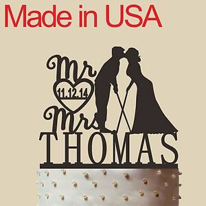 Personalized Golf themed Cake Topper, Acrylic,Wedding Gift ...