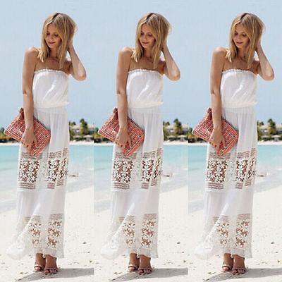 New Women Summer Boho Long Maxi Evening Party SunDress Party Evening Beach Dress