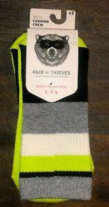 Pair-Of-Thieves-Mens-High-Performance-Cushion-Crew-Socks-Multi-8-12-2-Pairs