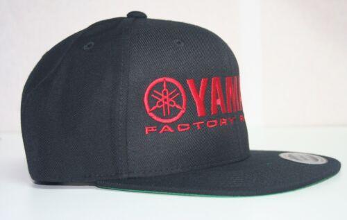 YAMAHA FACTORY RACING hat cap flat bill snapback blue red white MX YZF YFZ RI R6