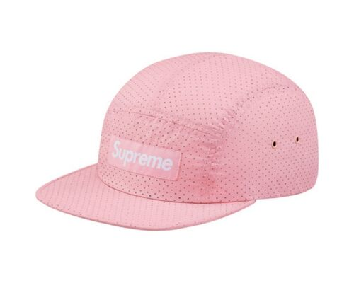 SUPREME Perforated Camp Cap Pink Light Teal Navy Red Black box logo tnf S//S 17