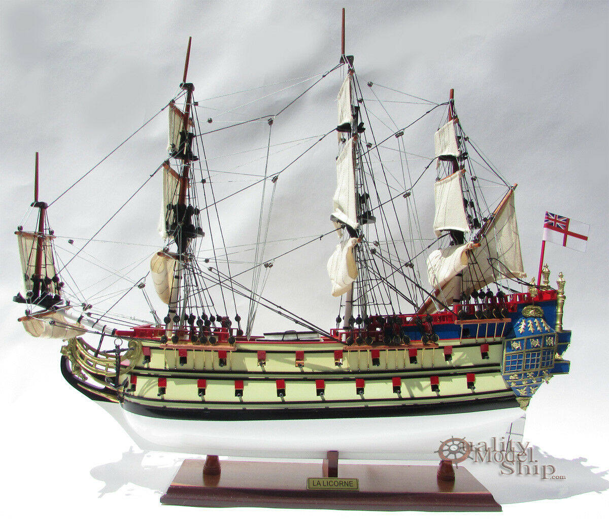 La Licorne Handcrafted Wooden Ship Model