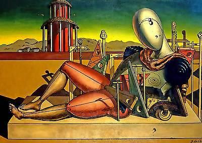 De Chirico cod 01 Poster 50x70 cm Stampa Grafica Printing Fine Art papiarte