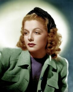 ANN-SHERIDAN-8x10-PICTURE-TOP-ACTRESS-RARE-COLOR-PHOTO