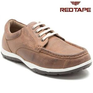 mens red tape new leather casual boat deck mocassin