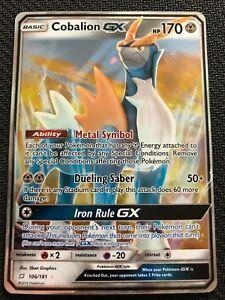 Cobalion GX Ultra Rare Pokemon 106//181 Team Up