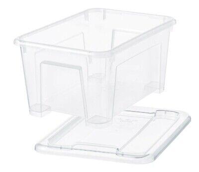 20 x Ikea Aufbewahrungsbox 5 L transparent Deckel Regalbox Box Kunststoffboxen