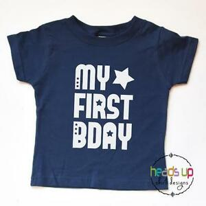 cfae76d08505 First Birthday Shirt Baby Boy/Girl Toddler 1st tshirt My First Bday ...