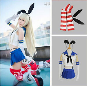 Kawaii Anime Kantai Collection Shimakaze Cosplay Costume Sexy Sailor