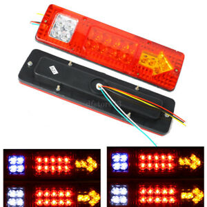 Paire-12V-19LED-Feu-Arriere-Indicateur-Lampe-Rear-Light-Remorque-Camion-Caravane