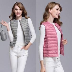 Womens-Down-Coat-Vest-Winter-Outerwear-Sleeveless-Jacket-Overcoat