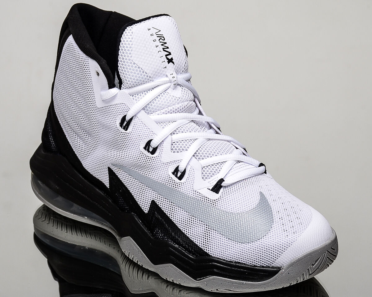 757683a35fd2 lovely Nike Air Max Audacity 2016 men basketball sneakers shoes NEW white  silver black