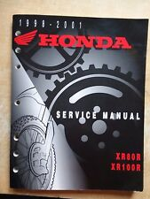 Genuine Honda Service Manual 1998-2001 XR80R & XR100R Original