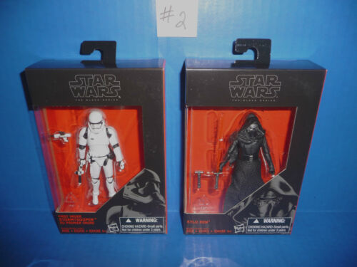 "Star Wars The Force Réveille Kylo Ren /& Stormtrooper 3.75/"" FIGURE Série Black"
