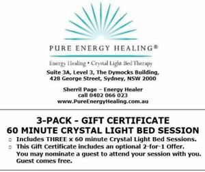 3-PACK-60-Minute-Crystal-Light-Bed-GIFT-CERTIFICATE-INCLUDES-BONUS-2-FOR-1