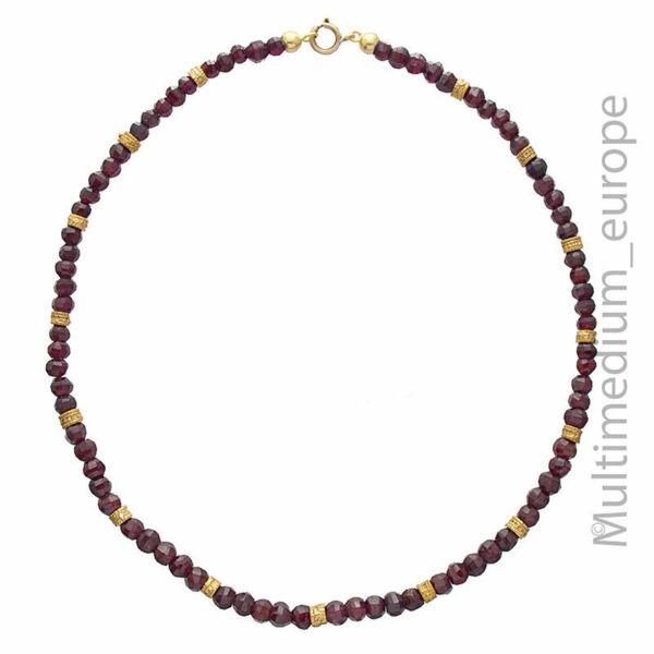 2019 Mode Antike Granat Perlen Halskette Geschliffen Necklace Collier Garnet ???????????????????? Wasserdicht, StoßFest Und Antimagnetisch