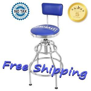 Superb Details About Adjustable Hydraulic Mechanic Stool Seat Chair Work Shop Garage Bench Kobalt New Machost Co Dining Chair Design Ideas Machostcouk
