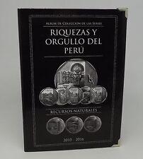 ALBUM RIQUEZA & ORGULLO DEL PERU COINS TUMI CARAL CATEDRAL LIMA 2010 - 2016 PERU